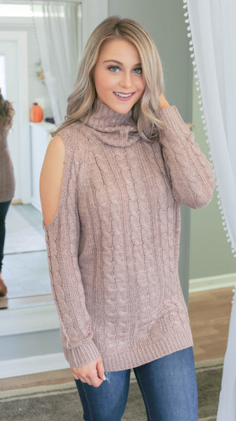Can't Stop Staring Sweater - Mocha - Bates Boutique