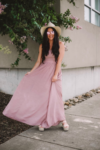 Meet Me At Midnight Maxi - Mauve