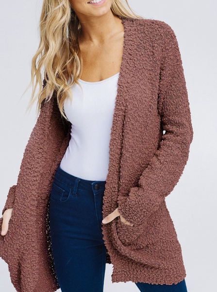 Keep Me Extra Cozy Cardigan - Mocha