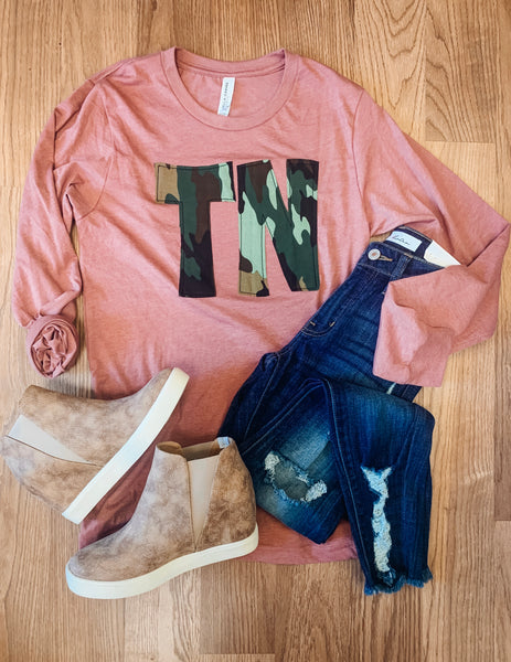 TN Camo Pink Long Sleeve