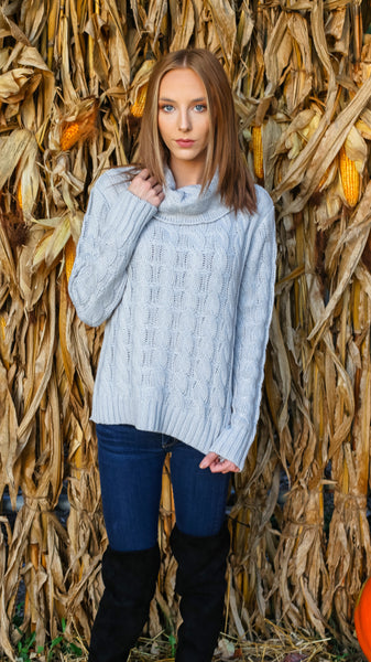 Do Knit Worry About It Sweater - Grey - Bates Boutique
