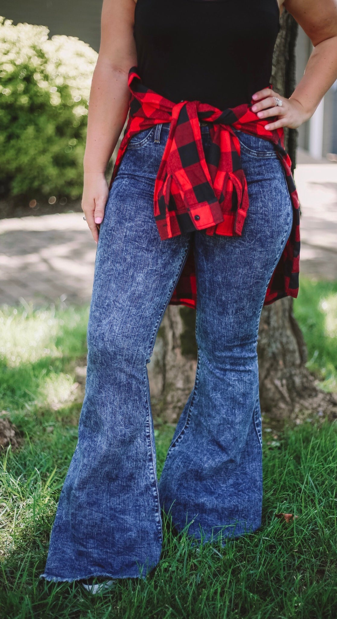 Acid Wash Flares - Bates Boutique