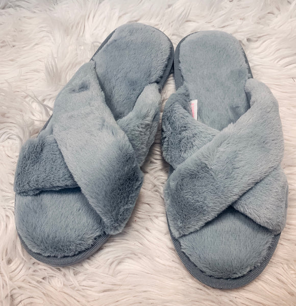 Slip It On Slippers - Grey