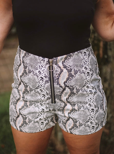 Zip It On Up Snake Shorts