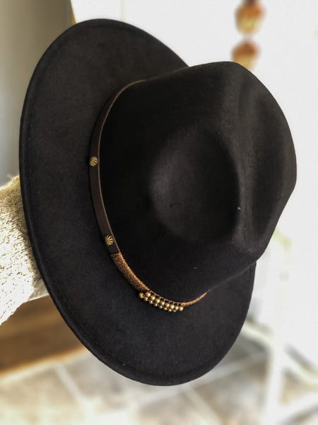 Beaded Band Hat - Black