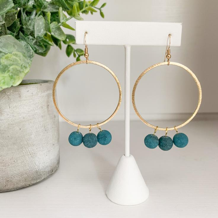 Willow Earrings - Jade