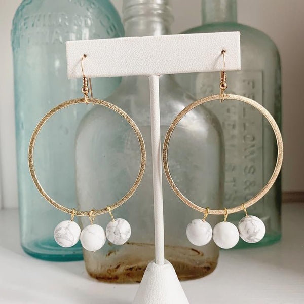 Willow Earrings - Marble