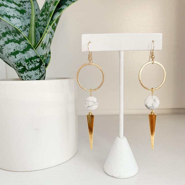 Kenzi Earrings - Marble