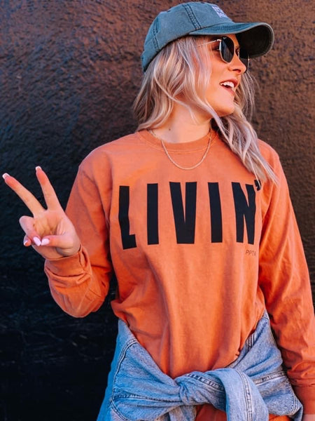 Livin' Tee - Burnt Orange