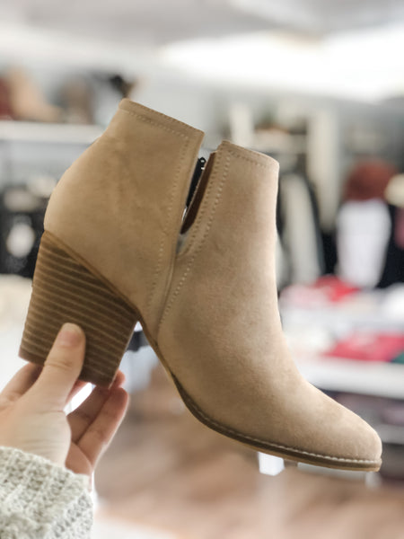 Abby Booties - Taupe