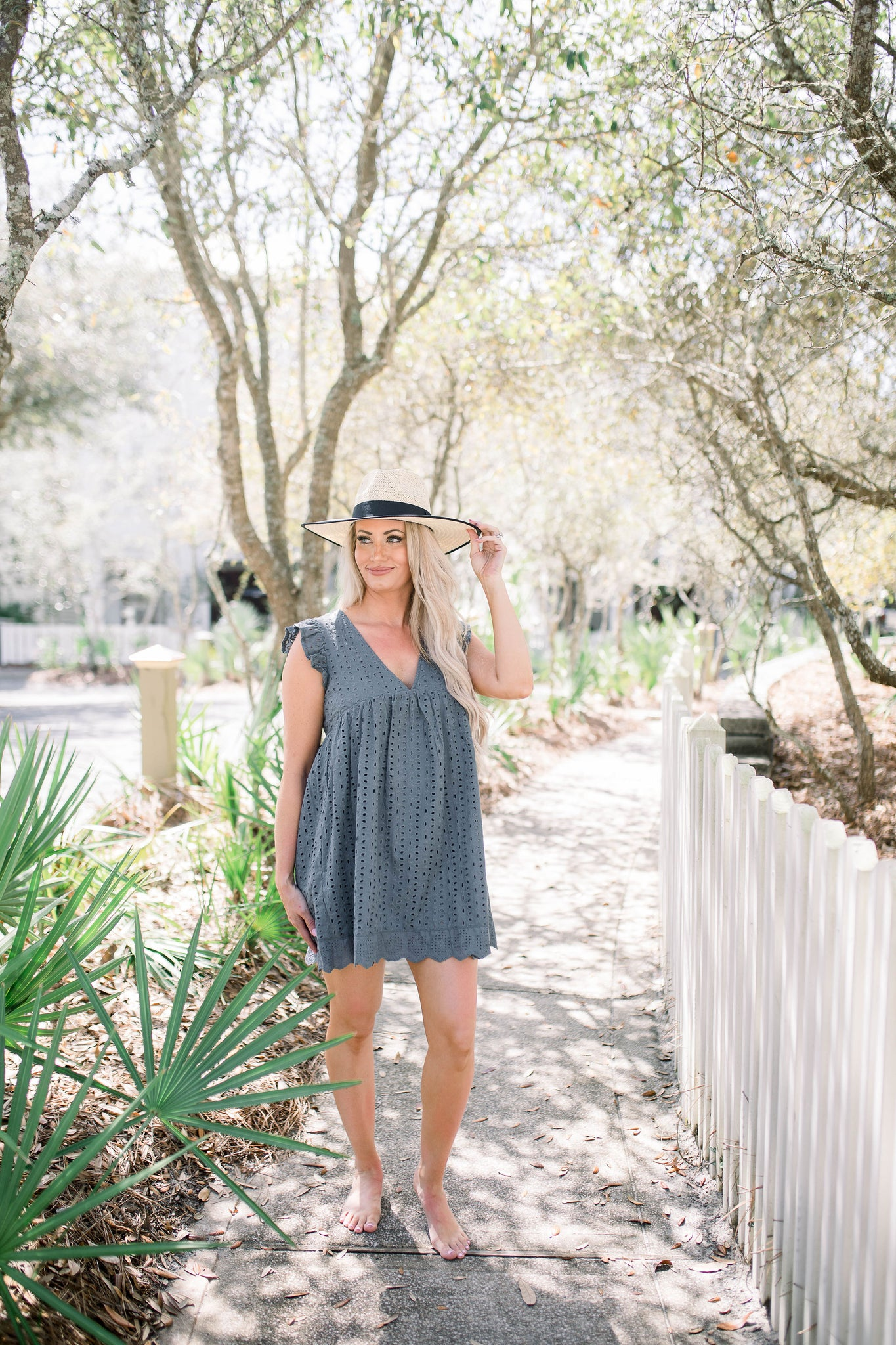 Clear Waters Romper - Charcoal