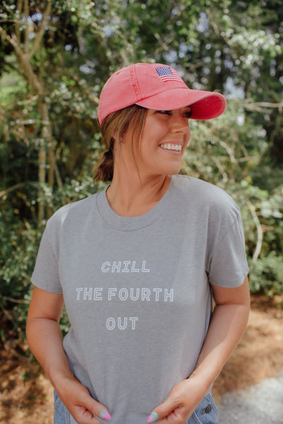 Chill The Fourth Out Crop Tee