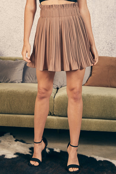 Could Go Right Skirt - Mocha