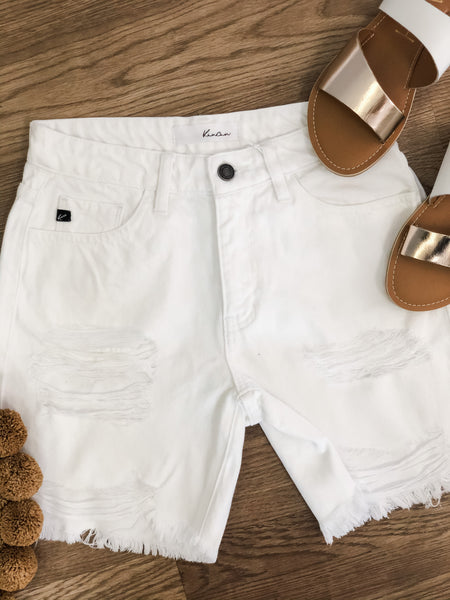Witt White Bermuda Shorts