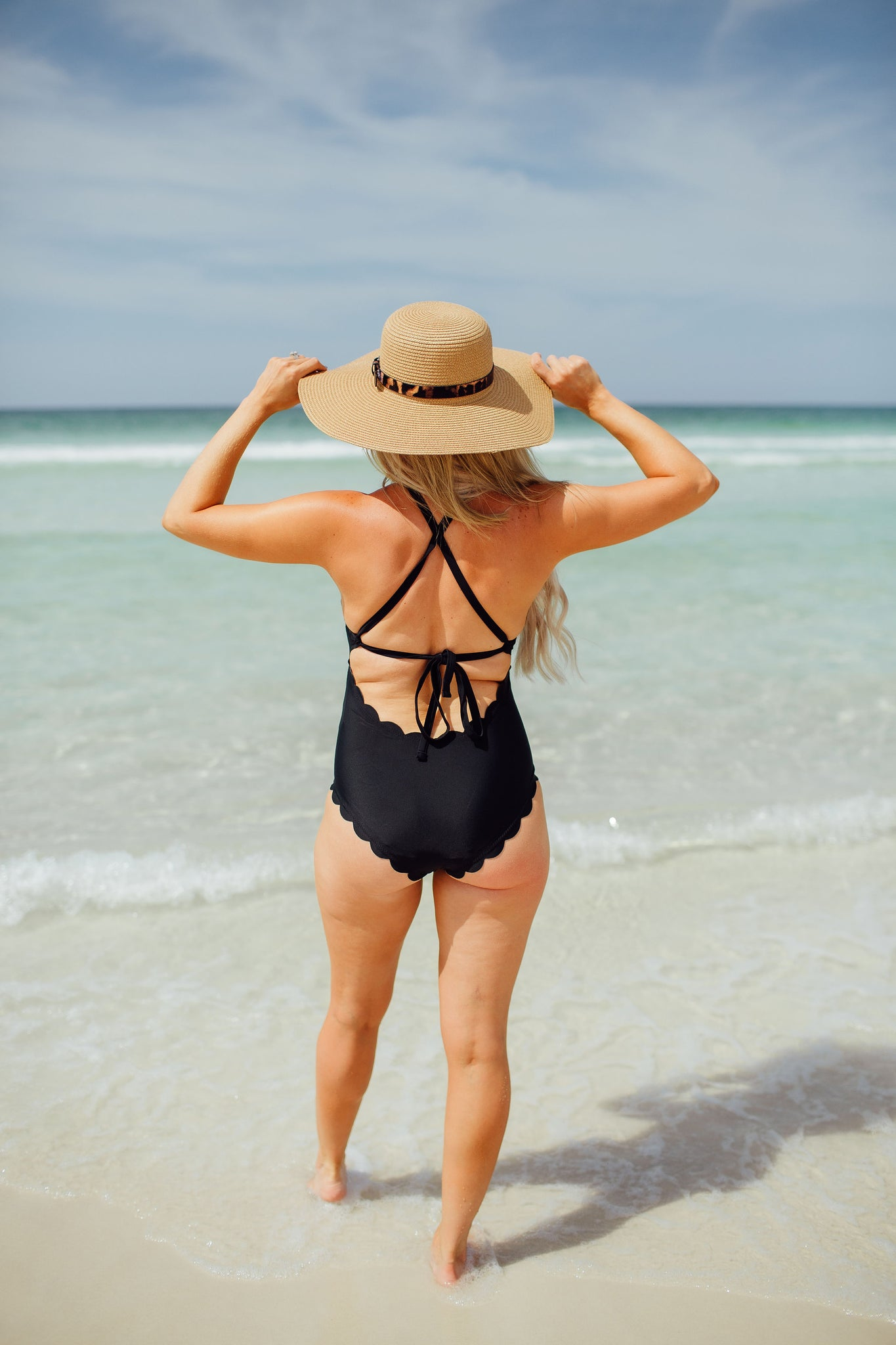 Sunset Scallop Swim Suit