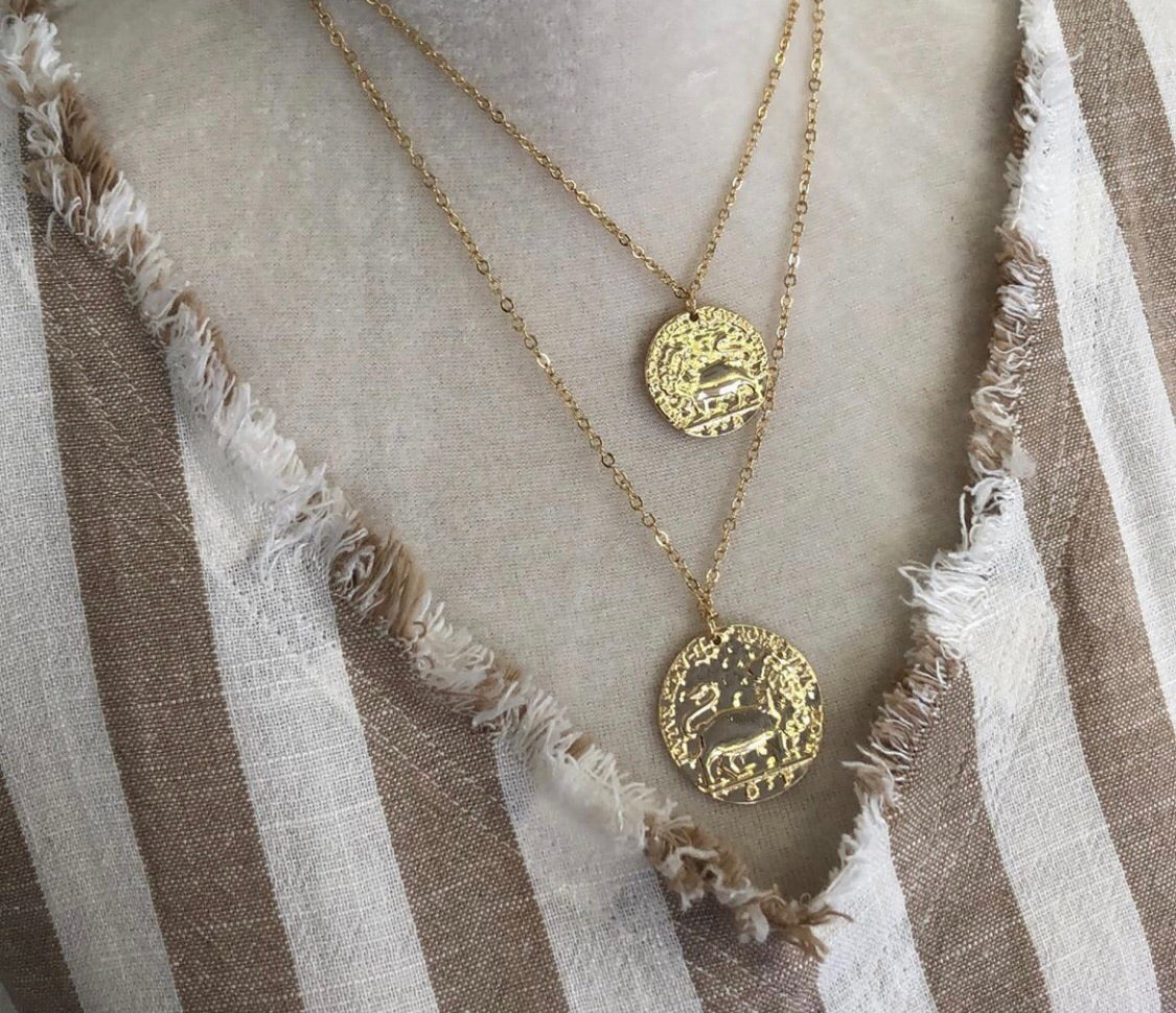 Columbus Coin Necklace - Bates Boutique