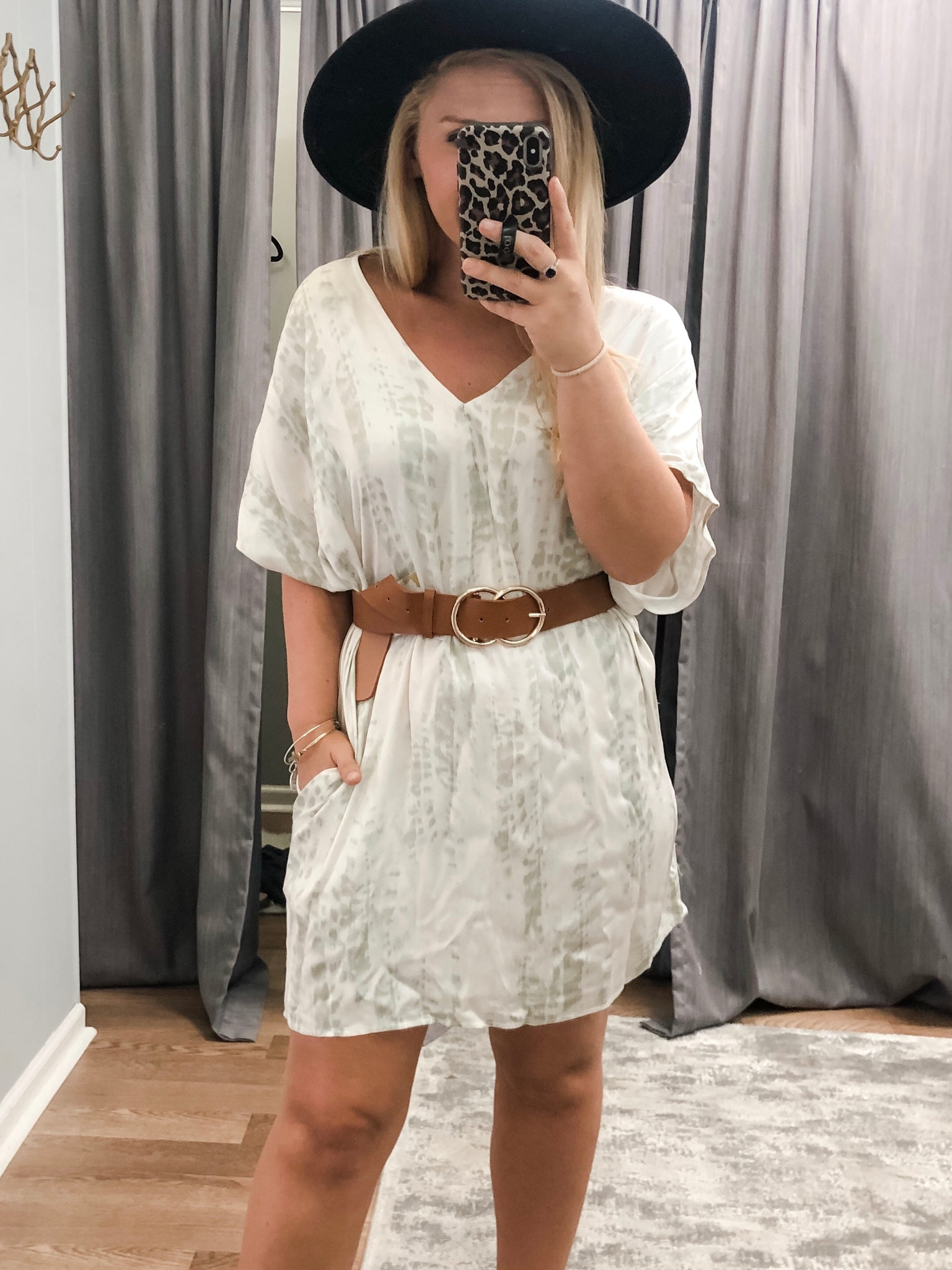 Sassy Sage Tunic Dress