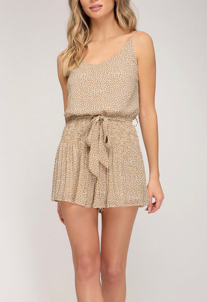 PLUS SIZE Settle Up Romper - Taupe