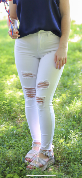 When In Rome White Jeans