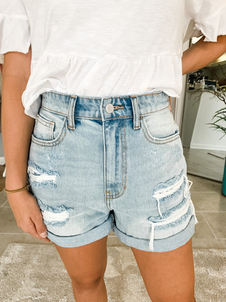 Rosie Rolled Denim Shorts