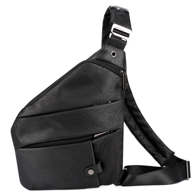 Male Retro Crossbody Sling Bag Messenger Shoulder Chest Pack