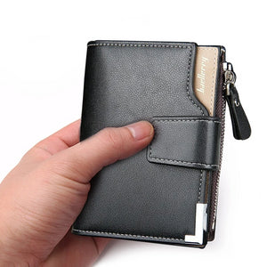 Best Quality Men Leather Short Clutch Wallet