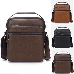 Waterproof Men Handbags Leather Crossbody Zipper Shoulder
