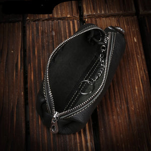 Genuine Leather Men Women Key Bag Small