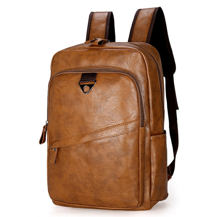 Fashion Men Backpack Waterproof Leather Travel Bag