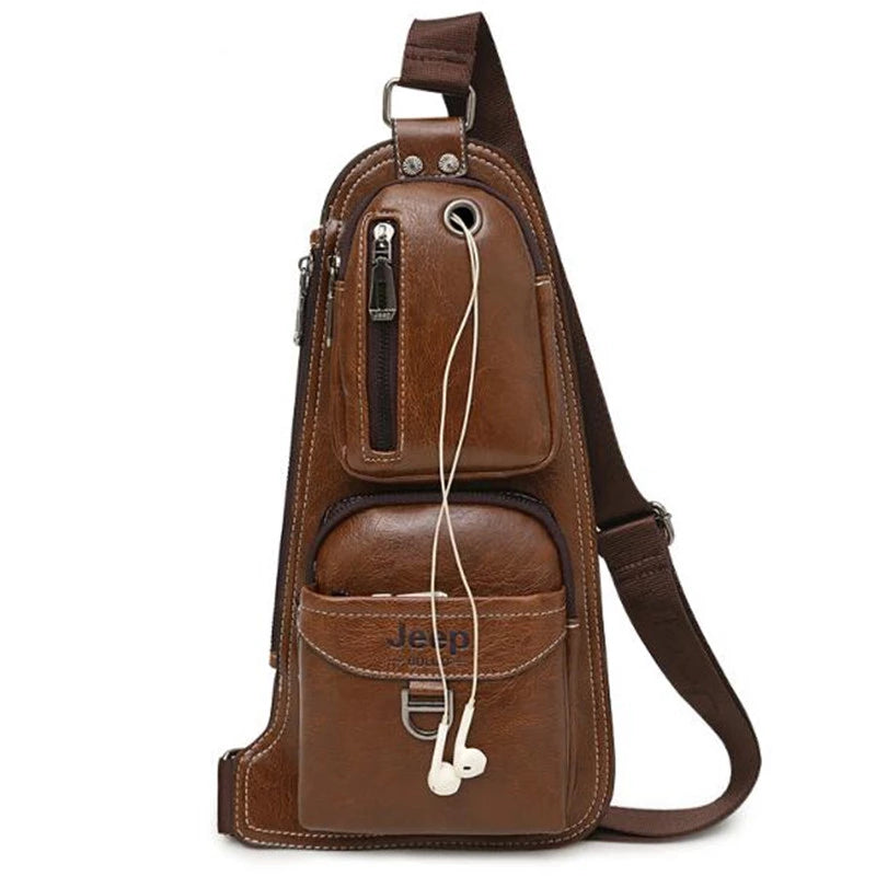 New Men Messenger Leather Bag Crossbody Shoulder Casual