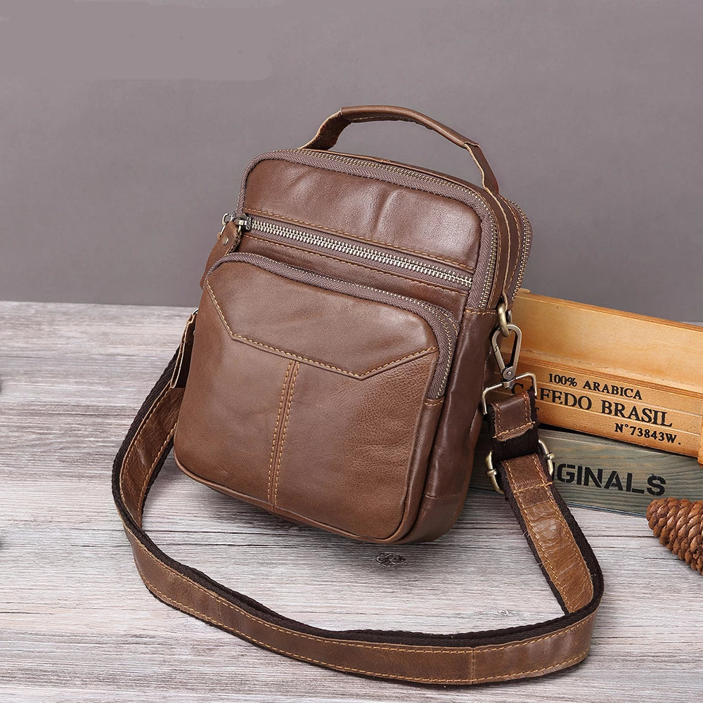 2019 Men Bag Leather Shoulder Single Strap Crossbody