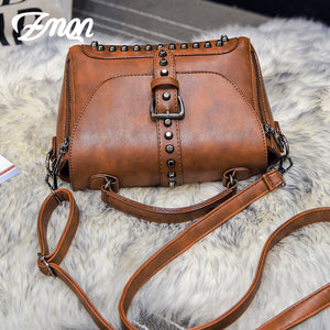 Crossbody Bags For Women 2019 Shoulder Bags Female Vintage Leather Bags Women Handbags Famous Brand Rivet Small Ladies