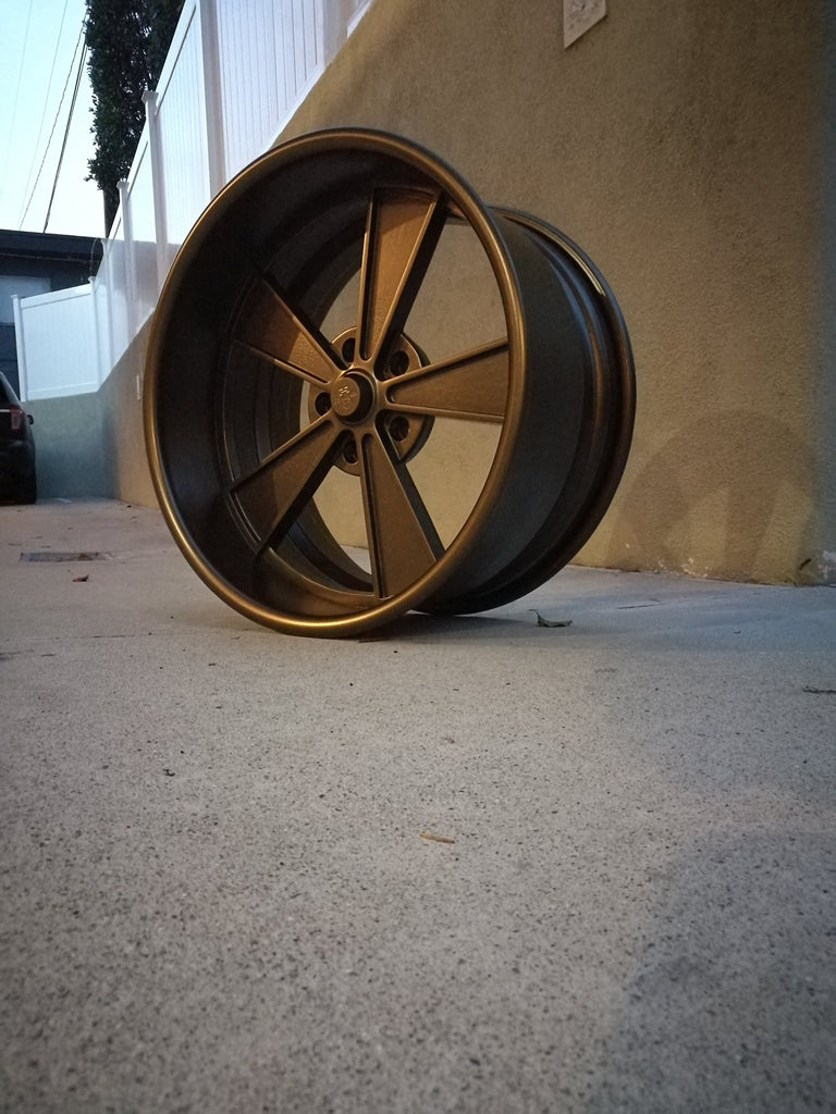 Powder coat the whole wheel