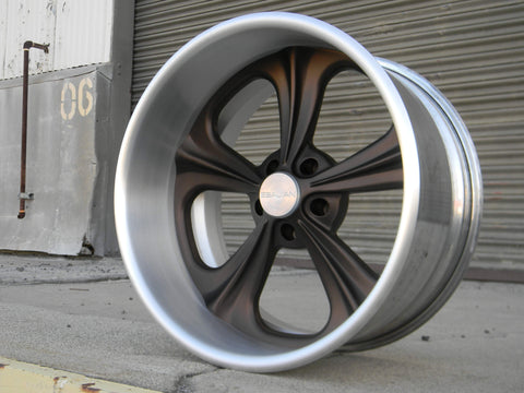 20x11 Viper brushed rim  and cap, Antique Bronze center
