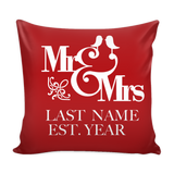 Mr. And Mrs Custom  Pillows ( real)