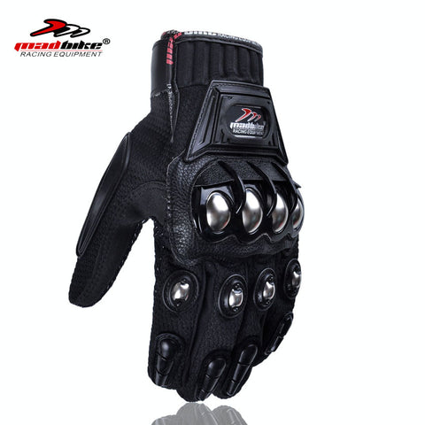 Alloy Steel Motorcycle Gloves