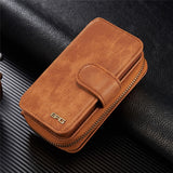 SMART DESIGN GENUINE MULTIFUNCTION LEATHER ZIPPER WALLET CARD CASE COVER FOR APPLE IPHONE