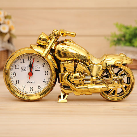 1Pc Creative Motorcycle Motorbike Pattern Alarm Clock Desk Clock Creative Home Birthday Gift Cool Clock Free Shiiping