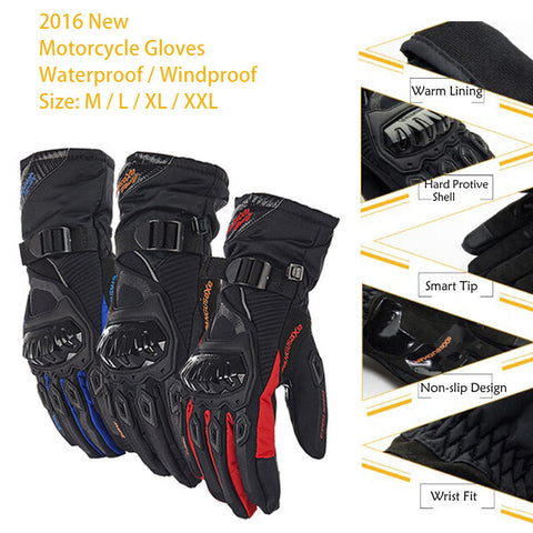 Breathable Pro-Biker Motorcycle Gloves