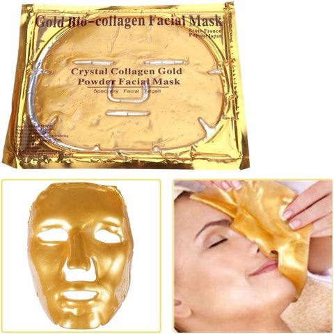 1pc 24k Gold Bio Crystal Collagen Hydrogel Face Mask