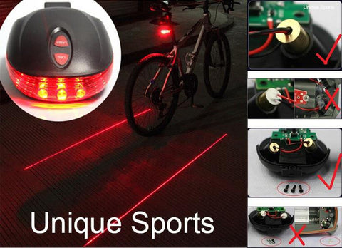 Waterproof Bicycle light Laser Tail Bike Safety