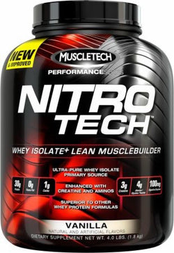 Proteína NITRO-TECH Vanilla 4Lbs-HF Athletics