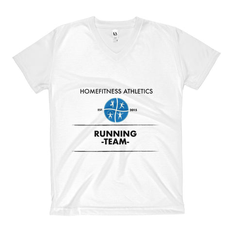 HOMEFITNESS ATHLETICS ORIGINAL Women's V-Neck T-Shirt / Camiseta Cuello-V Mujer-HF Athletics