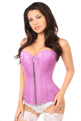 Top Drawer Orchid Brocade Steel Boned Corset