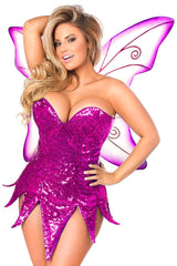 Top Drawer Pink Sequin Fairy Corset Dress Costume