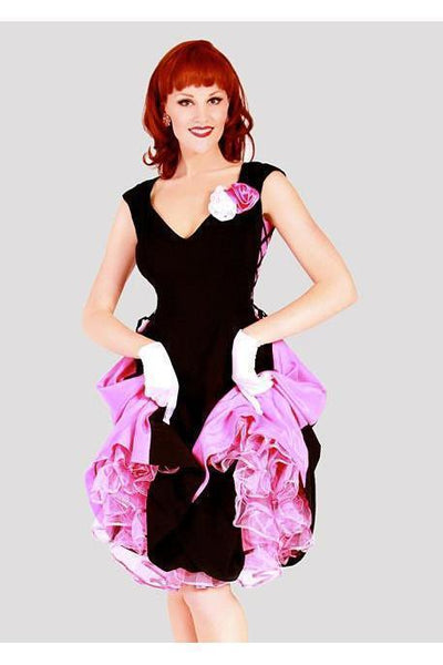 Bettie Page Dress | Colored Side Panels-Pink