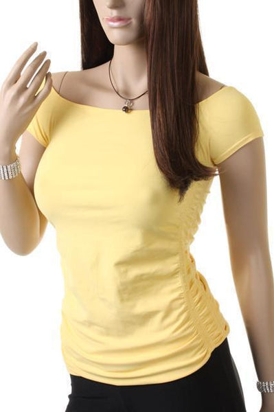 Cap Sleeve-Yellow