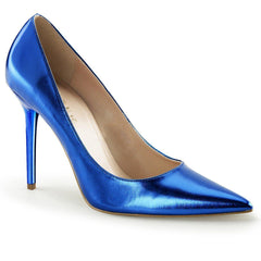 SS-Classique-20 | Blue Metallic Faux Leather-SEXYSHOES.COM
