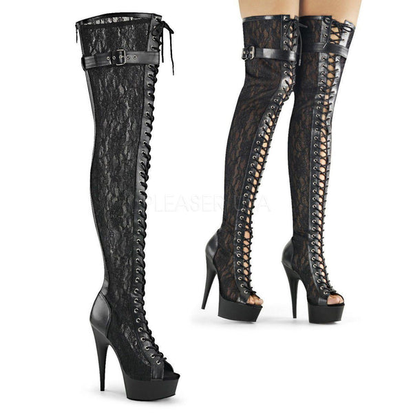 DELIGHT-3025ML Platform Boot  | Black Mesh