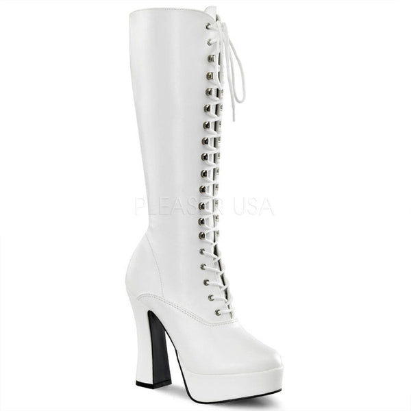 ELECTRA-2020 Platform Boot  | White Faux Leather